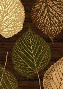 Brown And Green Area Rug Leaf Design Area Rugs And Brown On