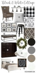 Knit Home Decor Mood Board A Black Amp White Guest Cottage Our Newest