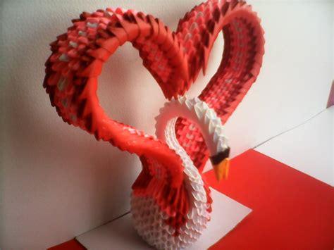 tutorial de cisne en origami 3d cisne coraz 211 n de origami 3d youtube