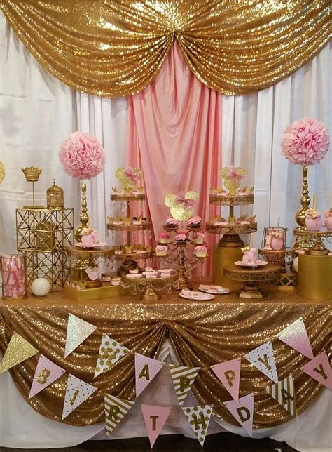 party themes gold pink and gold minnie mouse celebration birthday party