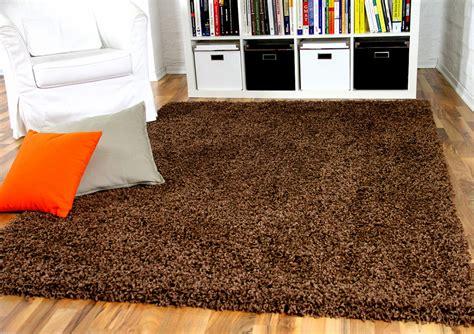 teppich klein hochflor langflor shaggy teppich aloha braun teppiche