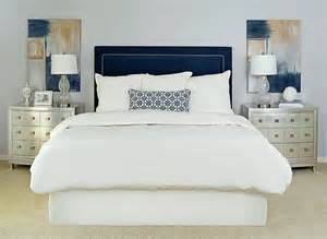 Navy And Gray Bedroom The Burban Cookie Navy Tufted Bed