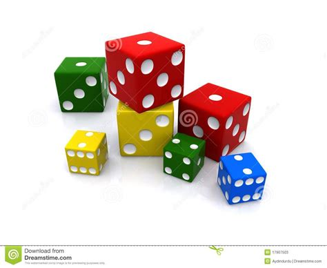 color dice colored dice stock illustration illustration of coloured