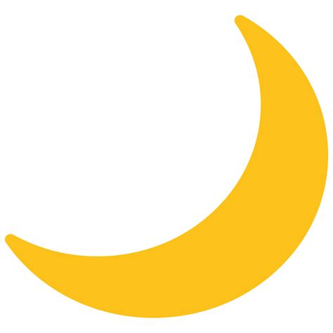 crescent moon clipart crescent moon clipart file emoji u1f319 svg wikimedia
