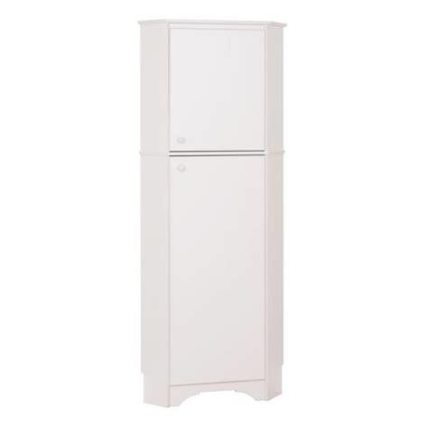 Corner Storage Cabinet With Doors Prepac Elite White 2 Door Corner Storage Cabinet Walmart Ca