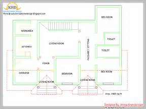 Kerala Style 3 Bedroom Single Floor House Plans Single Floor House Plan And Elevation 1400 Sq Ft
