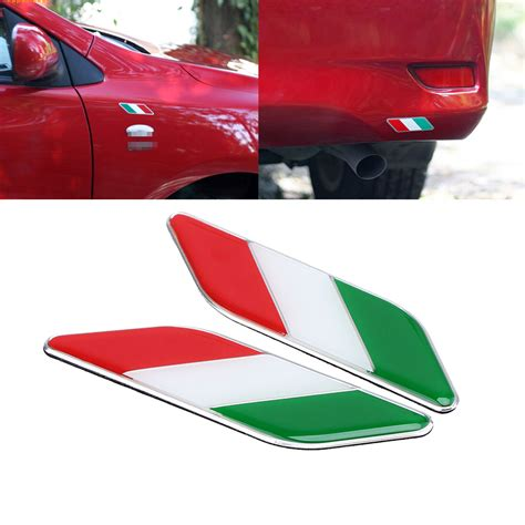 Italien Sticker Auto by Auto Car Italy Flag Italian Emblem Stickers Decal For