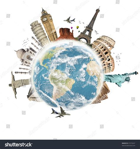 planet turs planet earth travel world concept on stock illustration