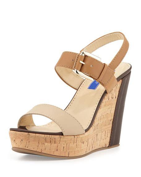 neutral wedge sandals keller cork wedge sandal neutral multi