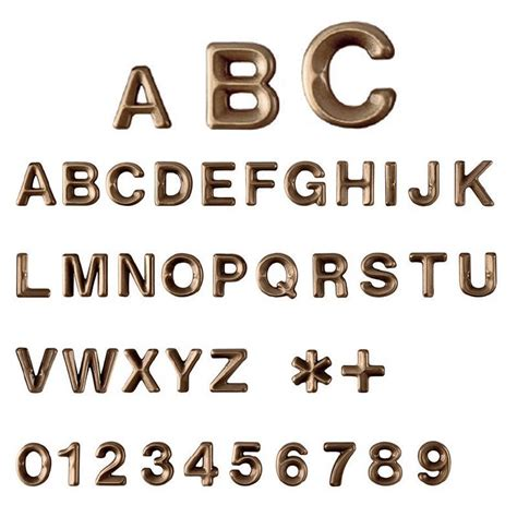caratteri lettere lettere e numeri avant in varie misure caratteri
