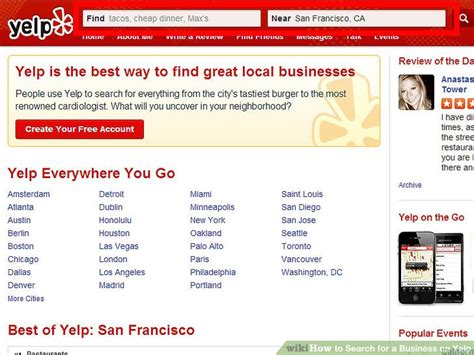 Find On Yelp How To Search For A Business On Yelp 7 Steps With Pictures