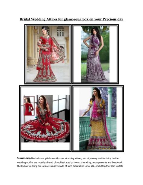 Wedding Attires For by Bridal Wedding Attires For Glamorous Look On Your Precious Day