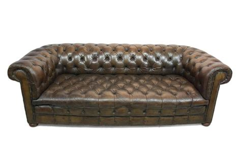 Leather Chesterfield Sofas Leather Buttoned Seat Chesterfield Sofa Circa 1930 At 1stdibs