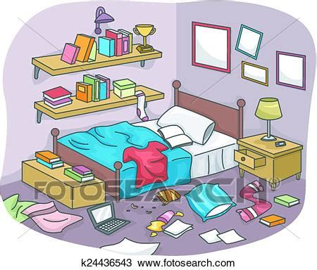 messy bedroom clipart of messy room k24436543 search clip art