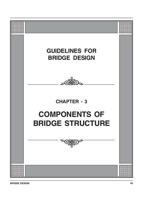 design criteria for bridges guide lines bridge design