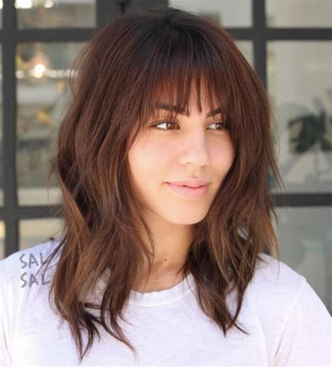 lob hairstyle pictures with bangs 20 inspiring long layered bob layered lob hairstyles