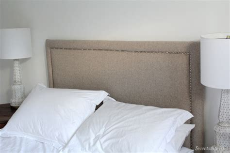 easy fabric headboard diy upholstered headboard with nailhead trim eamonn