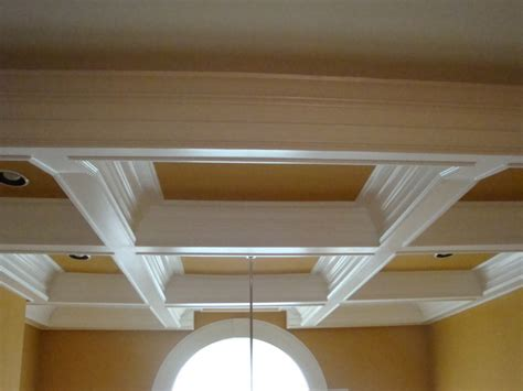 How To Build A Coffered Ceiling by Two Story Coffered Ceiling Project Craftsman Richmond By S Interior Exterior Llc