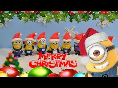 merry christmas minions dance jingle bells      merry christmas stop motion youtube