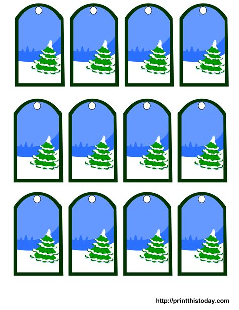 printable xmas stickers free printable christmas gift tags featuring christmas tree