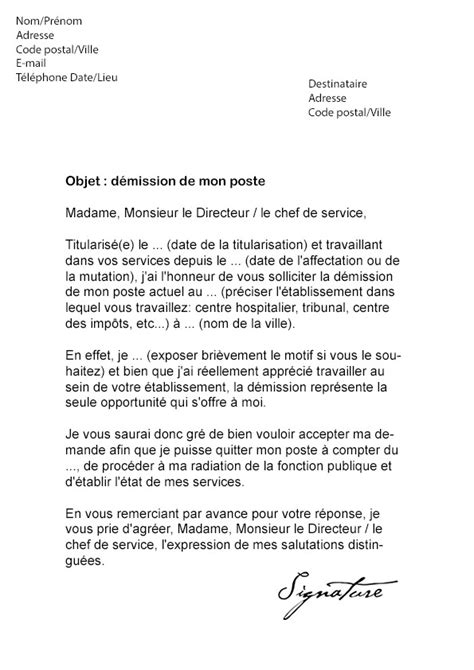 lettre de motivation titularisation - Modele de cv