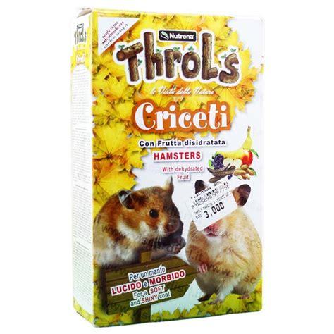 alimenti per criceti cibo per criceti nutrena throls mangime con frutta disidratata