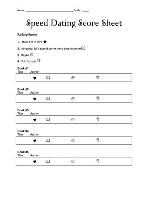 Speed Dating Score Sheet Printable Pdf Download Speed Dating Card Template