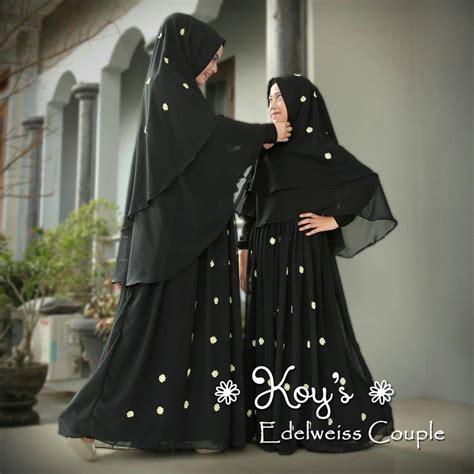 Promo Gamis Busana Muslim Bermerk Modern Style Ootd Baju Gamis Warna Hitam