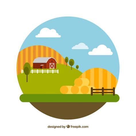 farm layout design software free download flat design farm landskape vector free download