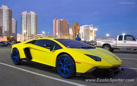 Las Vegas Lamborghini Lamborghini Aventador Spotted In Las Vegas Nevada On 11
