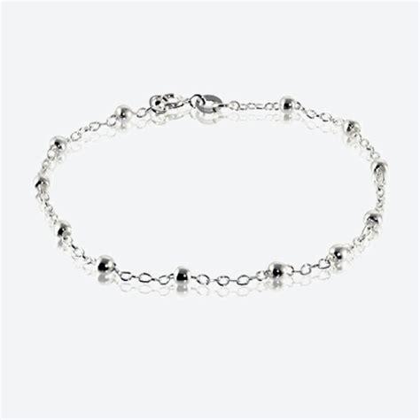 Timothea Sterling Silver Link & Bead Bracelet