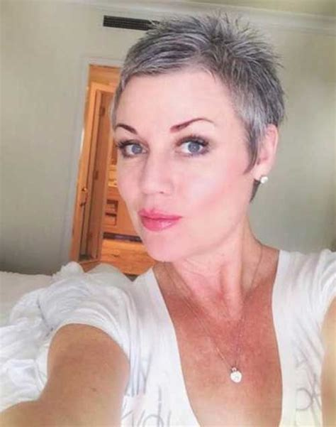 pixie haircuts gray hair the 25 best short gray hairstyles ideas on pinterest
