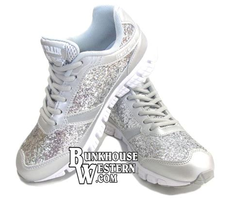 silver quot so glam quot glitter tennis shoes by quot i