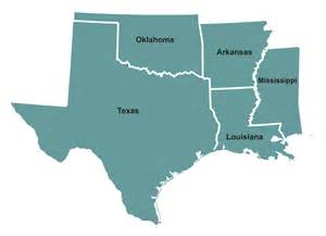 Texas Louisiana Map by Pin Map Of Oklahoma Arkansas Louisiana And Texas On Pinterest