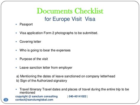 Cover Letter For Schengen Visa Italy Europe Visit Visa Sanctum Consulting