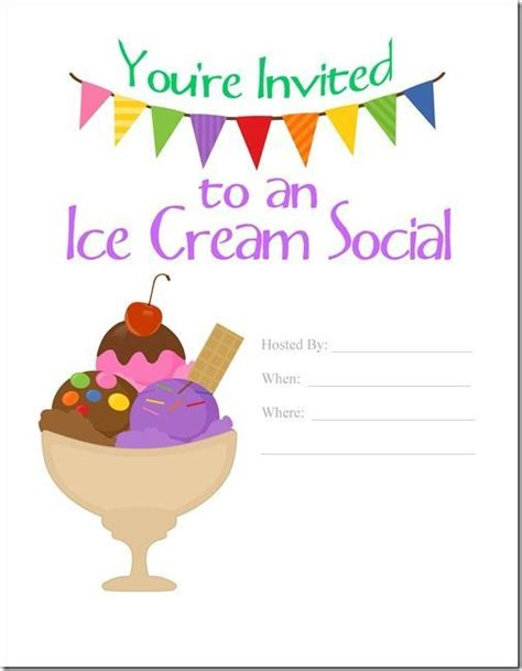 Ice Cream Social Flyer Template