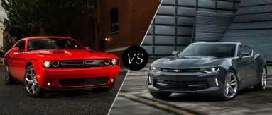 Dodge Chevrolet 2016 Dodge Challenger Vs 2016 Chevy Camaro