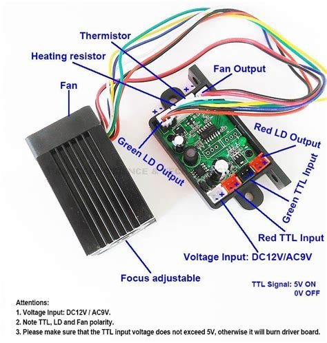 laser diode driver ttl schematic focusable 200mw 532nm green diode laser module with ttl laser diode driver