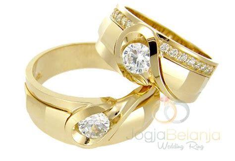 Cincin Gold cincin kawin noah perak lapis rhodium model cincin kawin