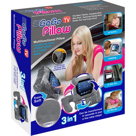 Pillow Seen On Tv by As Seen On Tv Gogo Pillow Tablet Holder Gray Walmart