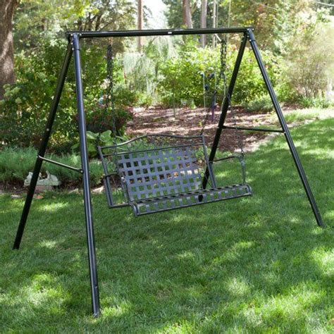 lawn swing metal swing frame outdoor furniture roselawnlutheran