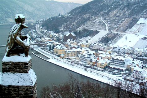Christmas Ideas by Under A Blanket Of Snow Scenes From Cochem Germany
