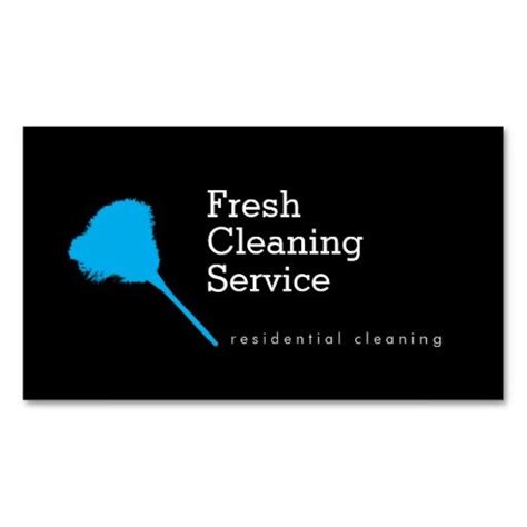 Cleaning Service Business Cards Templates Free by Modern Cleaning Service Housekeeper Business Card