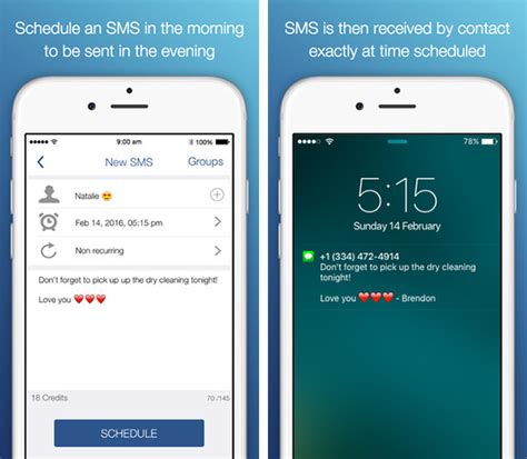 iphone messages how to schedule sms text messages on iphone no jailbreak required redmond pie
