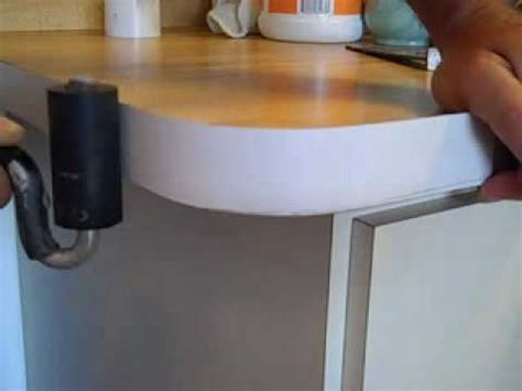 How To Make A Laminate Countertop - how to bend formica on countertop radius youtube