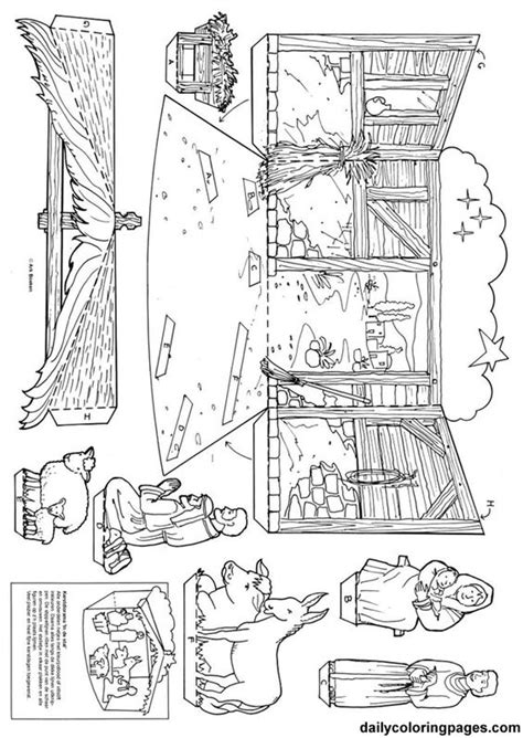 free printable nativity diorama nativity diorama christmas coloring pages jesus loves