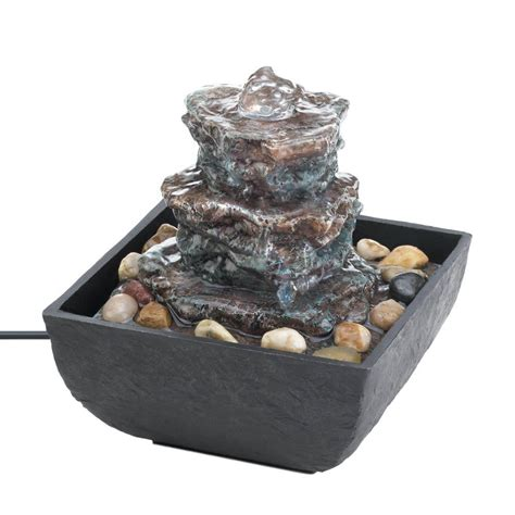 rock tower tabletop fountain wholesale at koehler home decor