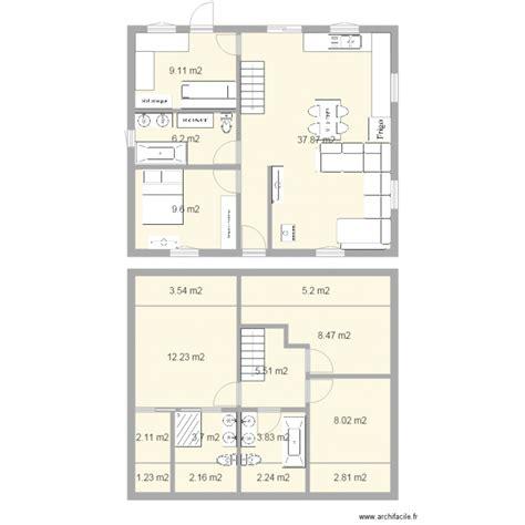 Plan De Maison Facade by Maison A Etage Facade 10m Plan 17 Pi 232 Ces 124 M2 Dessin 233