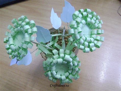 Ideas For Paper Craft - paper crafts paper chrysanthemums craft ideas