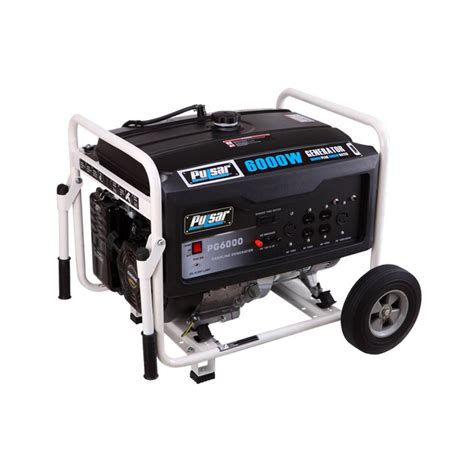 pulsar 6 000 watt gasoline powered recoil start portable